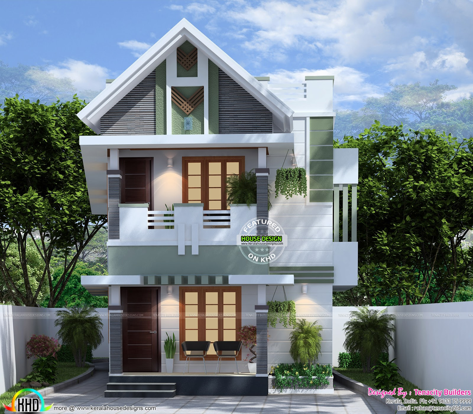 Very Cute Small Double Storied House Kerala Home Design
