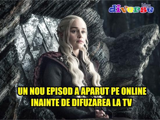S-a furat un nou episod din Game of Thrones