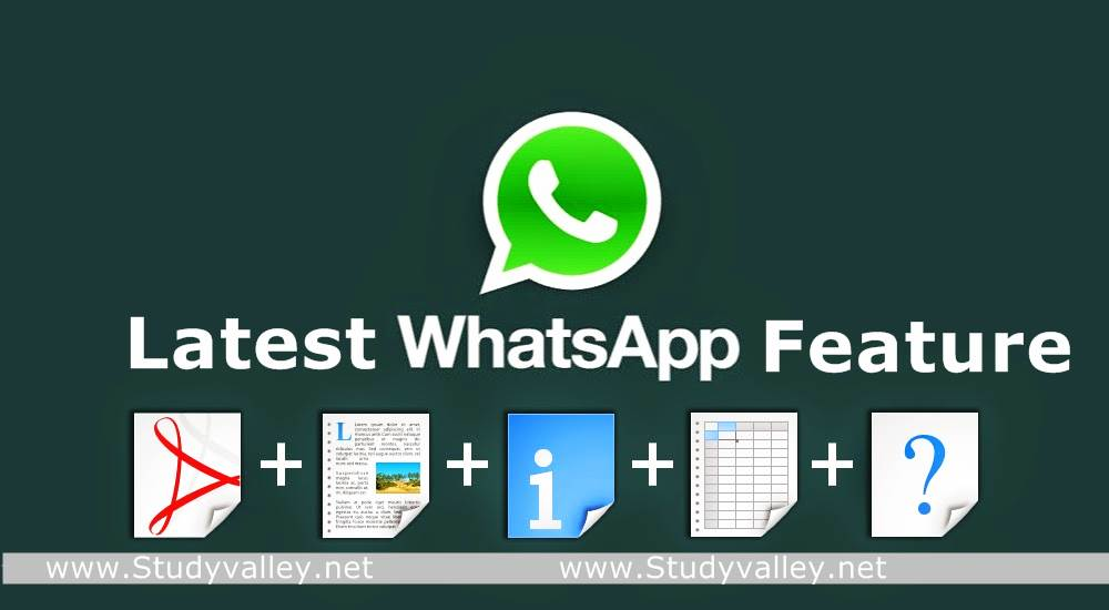 Image result for whatsapp share file new feature