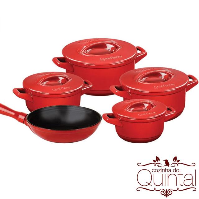Panelas Ceraflame, a cor é Vermelho Pomodoro! Na Cozinha do Quintal.