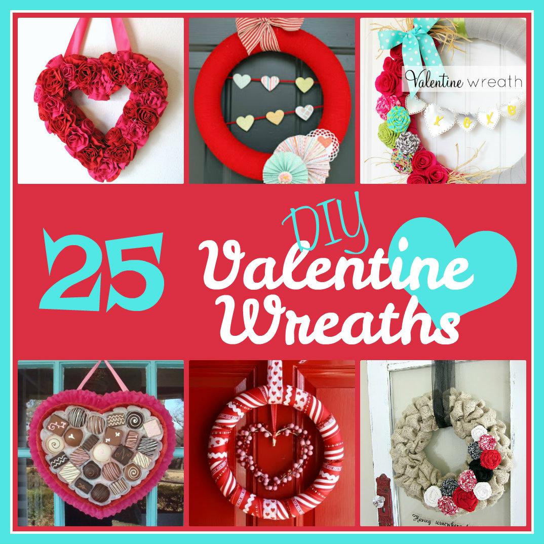 25 DIY Valentine's Day Wreaths