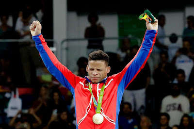 Cuba's Ismael Borrero Molina Wins First Wrestling Gold against Finalist Ota