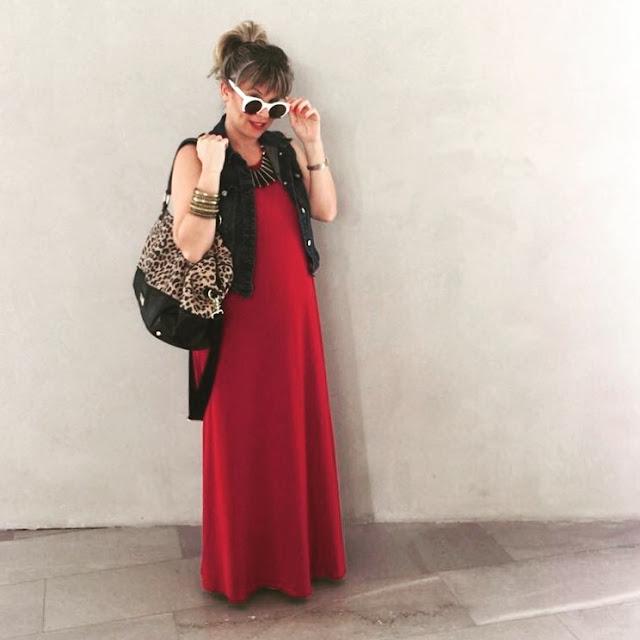 שמלת מקסי אדומה קסטרו