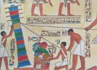 djet-Pfeiler ägyptischer Maibaum als Weltenachse und Weltenbaum, Baum des Lebens