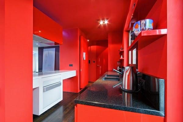 Cocinas de color rojo colores en casa - Cocinas de color rojo ...