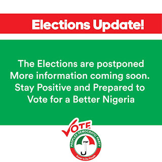 Breaking News: INEC Just Postponed Tomorrow's Election.