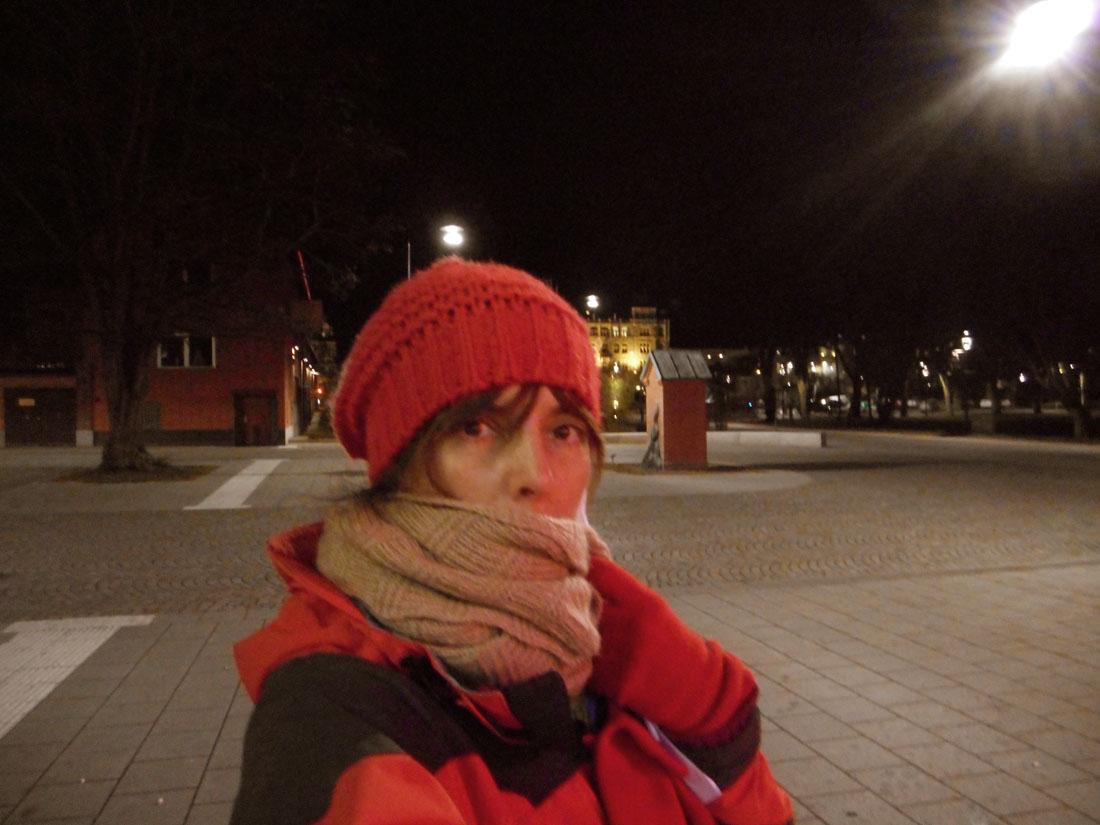 Fuori la piscina in una sera invernale :-)