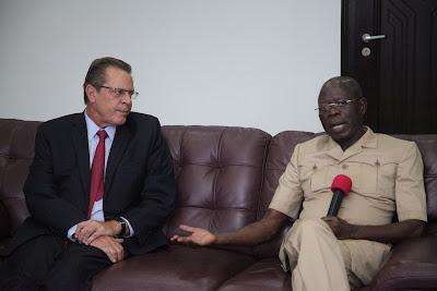 Photos:  Edo Now Investors' Hub, Oshiomhole Tells US Envoy
