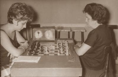 VII Campeonato femenino de ajedrez de España, partida María Giner - Maria Lluïsa Puget