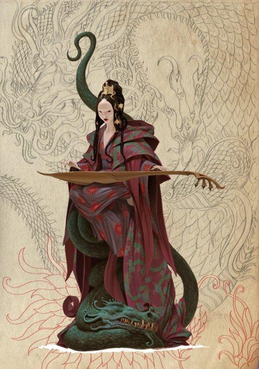 Adrian Smith artstation arte ilustrações fantasia oriental sombrio games deuses monstros demônios japoneses