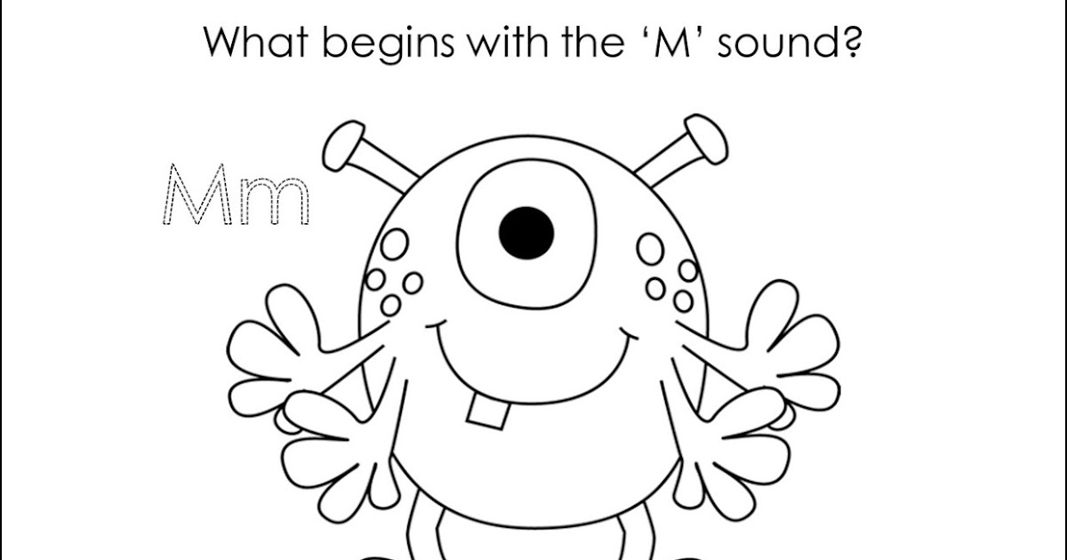 Classroom Freebies: What begins with M? Monster!