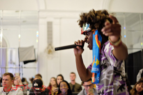 Mr Benny Whip himself, LIVE! King Imprint & Kandi Reign Dance It Up LIVE at NYFW - Photographed by Kent Johnson for Street Fashion Sydney.