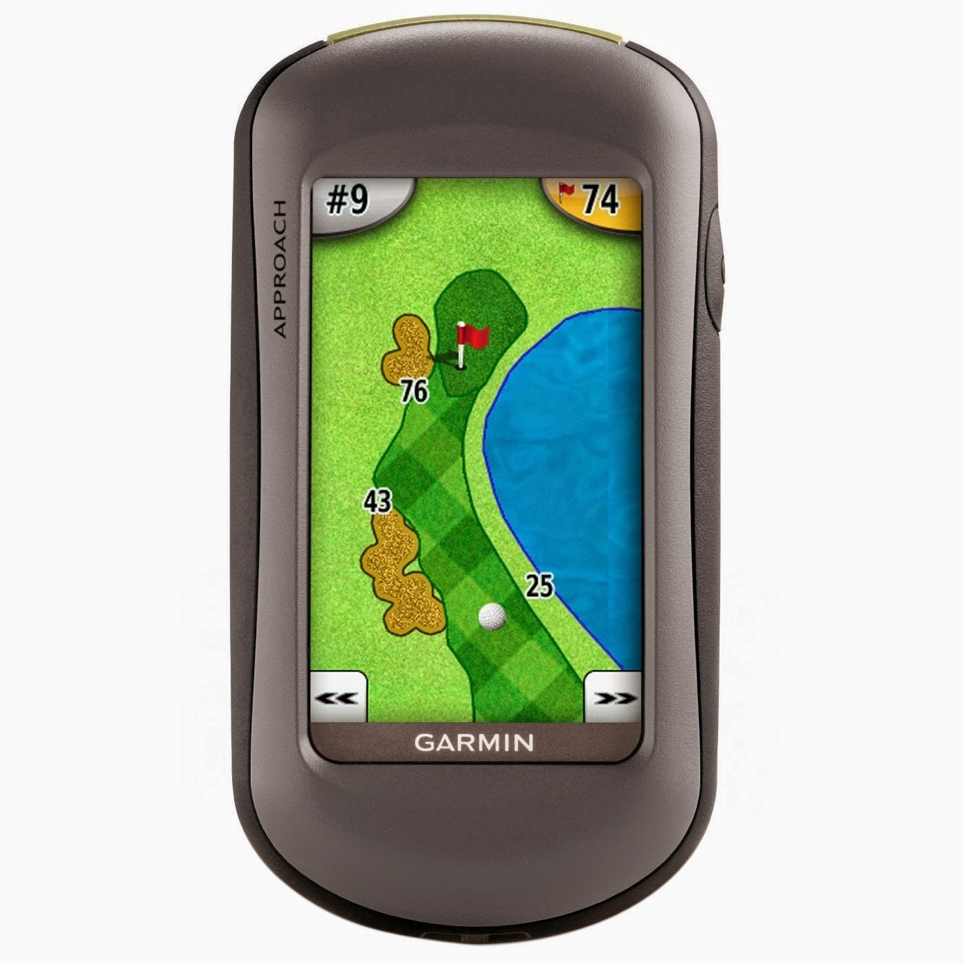 Garmin Approach G5 Waterproof Touchscreen Golf GPS, review, measures exact yardage to all fairways, hazards and greens, tracks club distance averages, records putts per round, keep track of up to 4 players scores
