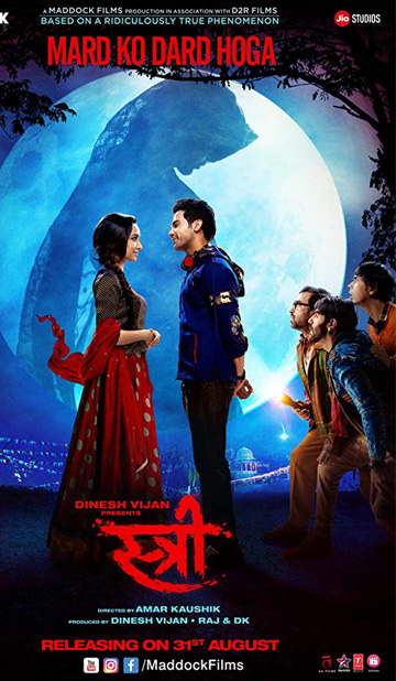 2018 Indian Hindi Comedy Film Stree Now In Cinemas Nationwide