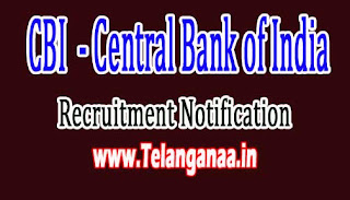 CBI (Central Bank of India) Recruitment Notification 2016