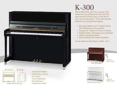 Đàn piano kawai k-300 hiện nay giá bao nhiêu