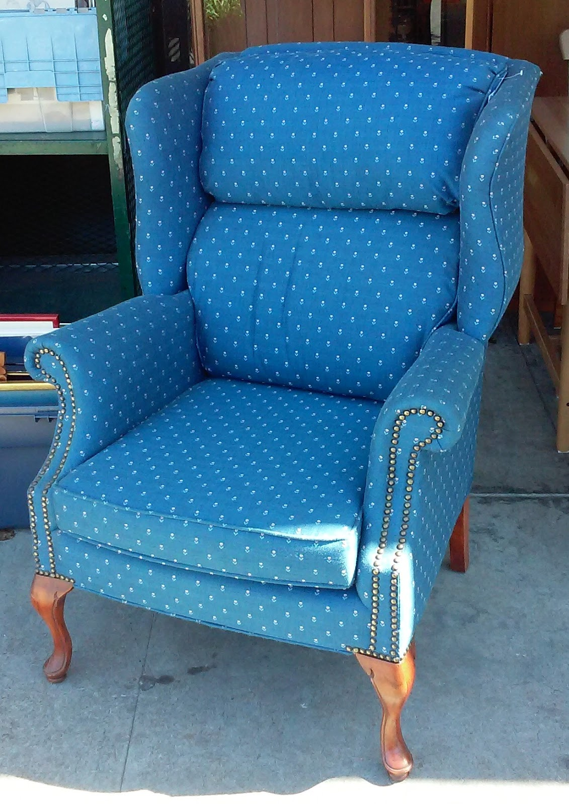 UHURU FURNITURE & COLLECTIBLES: SOLD Sam Moore Wingback Chair - $50