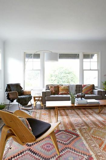 Decoraci n de salas con alfombra salas con estilo for Alfombras para sala pequena