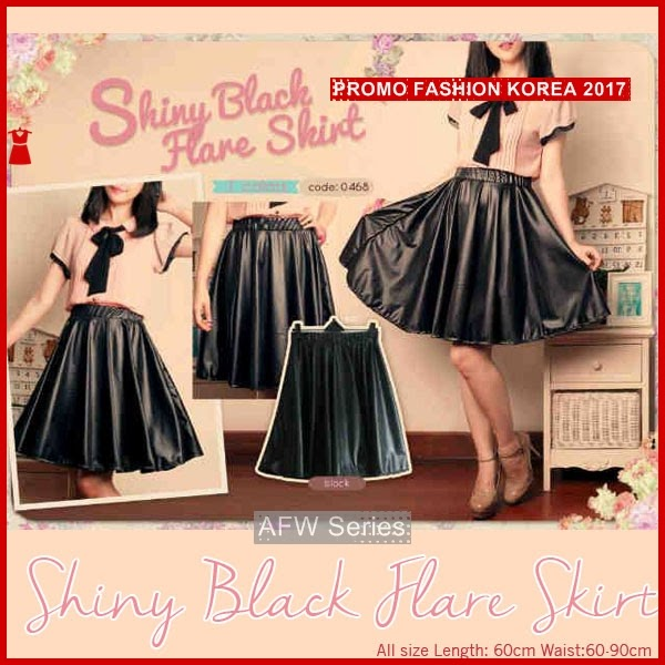 BAMFGW077 Shiny Flare Skirt Wanita PROMO BMG