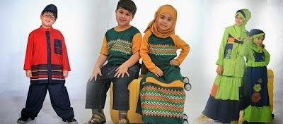 Koleksi Baju Muslim Anak-Anak Terbaru Modern 2015