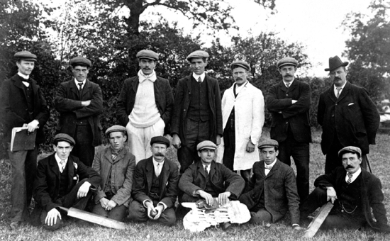 Photograph of North Mymms Cricket Club 1905. Back Row: A.Marsden, C.Canham, W.Smith, H.Nash, J.Capes, H.Mathews, W.Aslett. Front Row: F.Nash, S.Nash, H.Good, B.Rogers, B.Smith, C.Wheeler