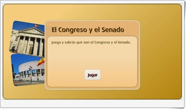 """""""El Congreso y el Senado"""" (Actividad interactiva de Ciencias Sociales de Primaria)"""