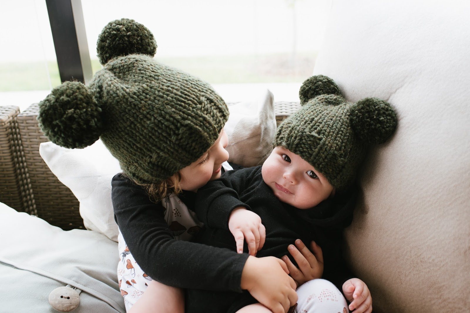 Knit bear hats