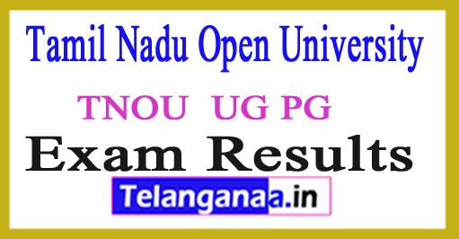 Tamil Nadu Open University Results 2018 TNOU UG PG Result 2018