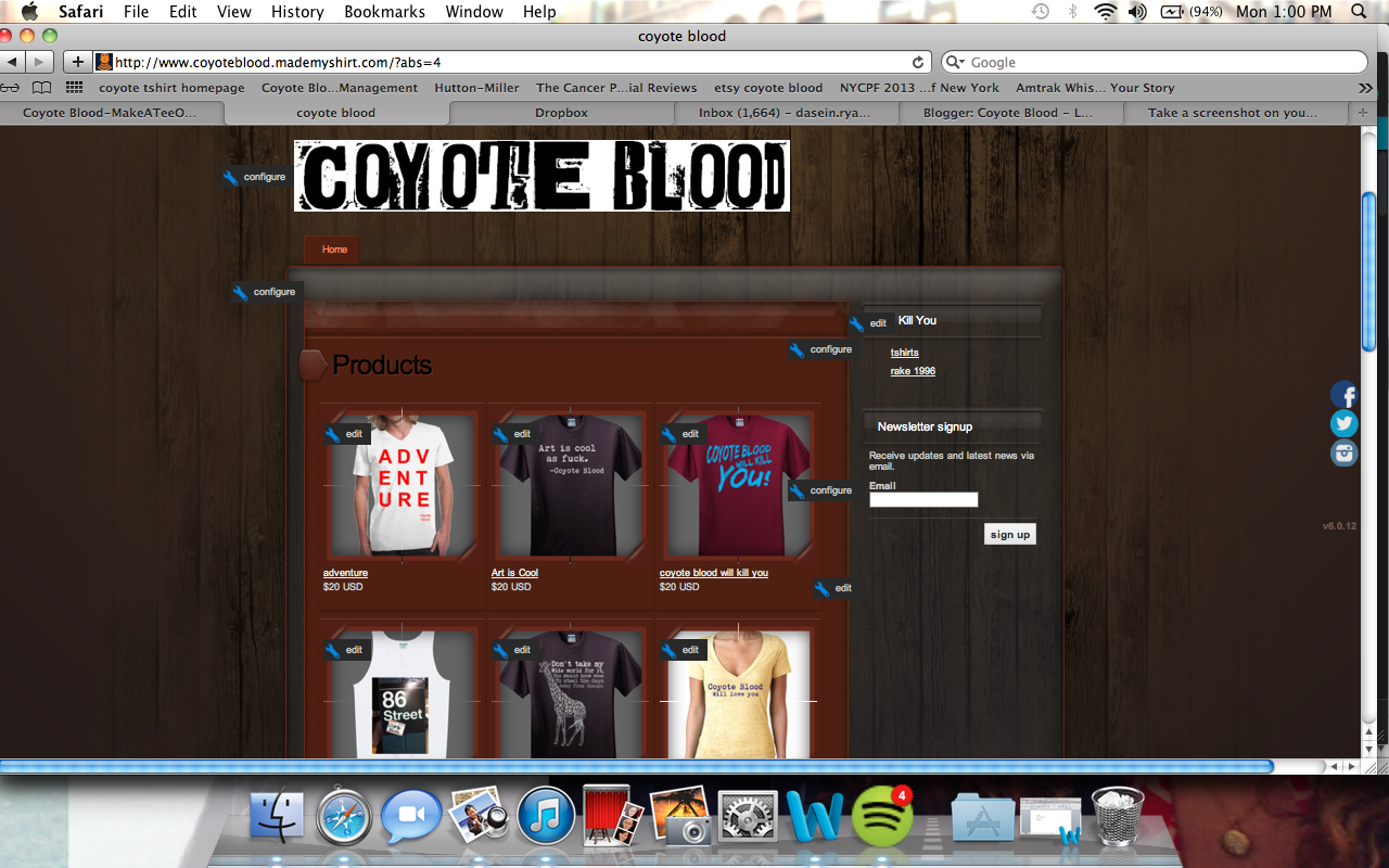Coyote Blood T-Shirts
