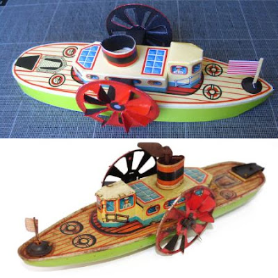 Tin Toy Boat Papercraft