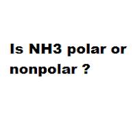 Is NH3 polar or nonpolar ?