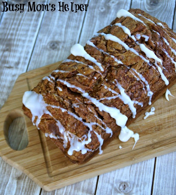 Swirly Cinnamon Banana Bread via Busy Mom's Helper for thefrugalfoodiemama.com
