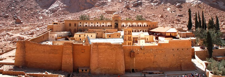 El Templo de Santa Catalina en la Península del Sinaí, Egipto