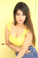 Cute Telugu Actress Shunaya Solanki High Definition Spicy Pos in Yellow Top and Skirt  0248.JPG