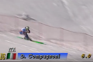 Compagnoni in downhill action