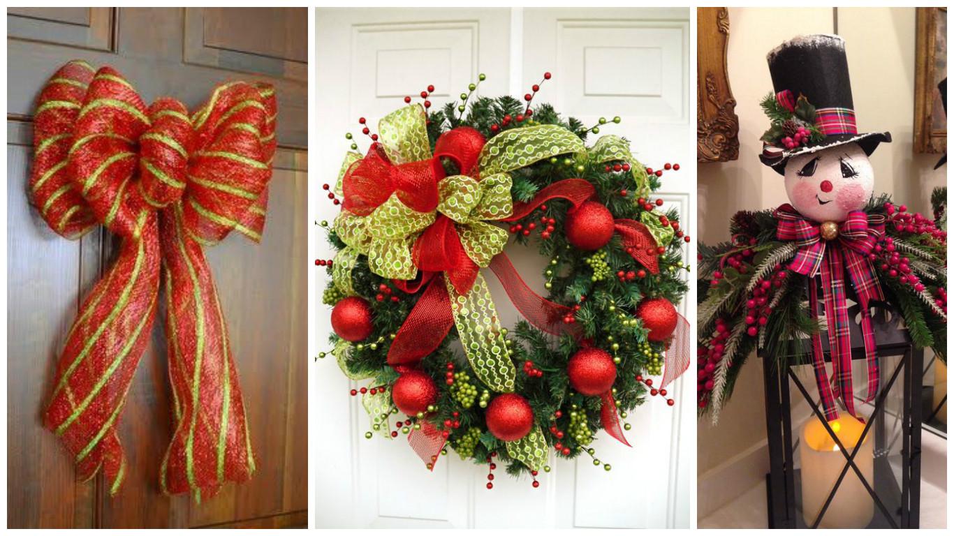 Aprende c mo hacer mo os navide os para decorar tu hogar - Manualidades navidenas paso a paso ...