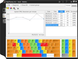 تحميل برنامج Rapid Typing Tutor لتعلم الكتابة على الكمبيوتر
