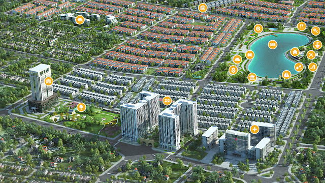 Toàn cảnh chung cư Anland - KĐT mới Dương Nội