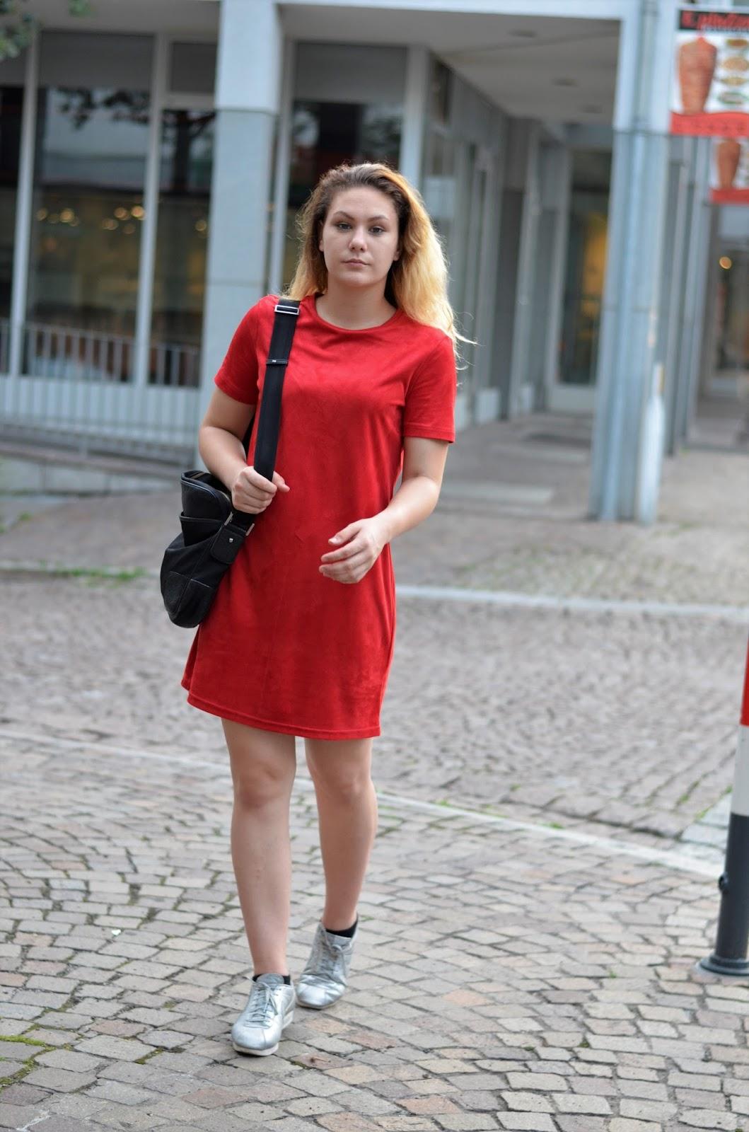 Zara rotes kleid kleid
