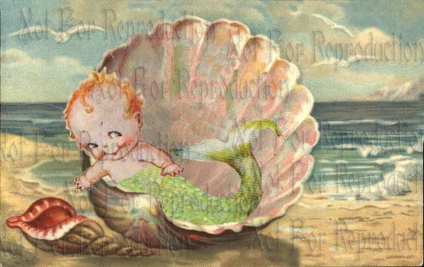 Vintage Baby Mermaids Postcards