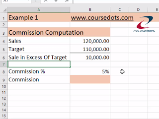 Sales Commission Computation Using If Function
