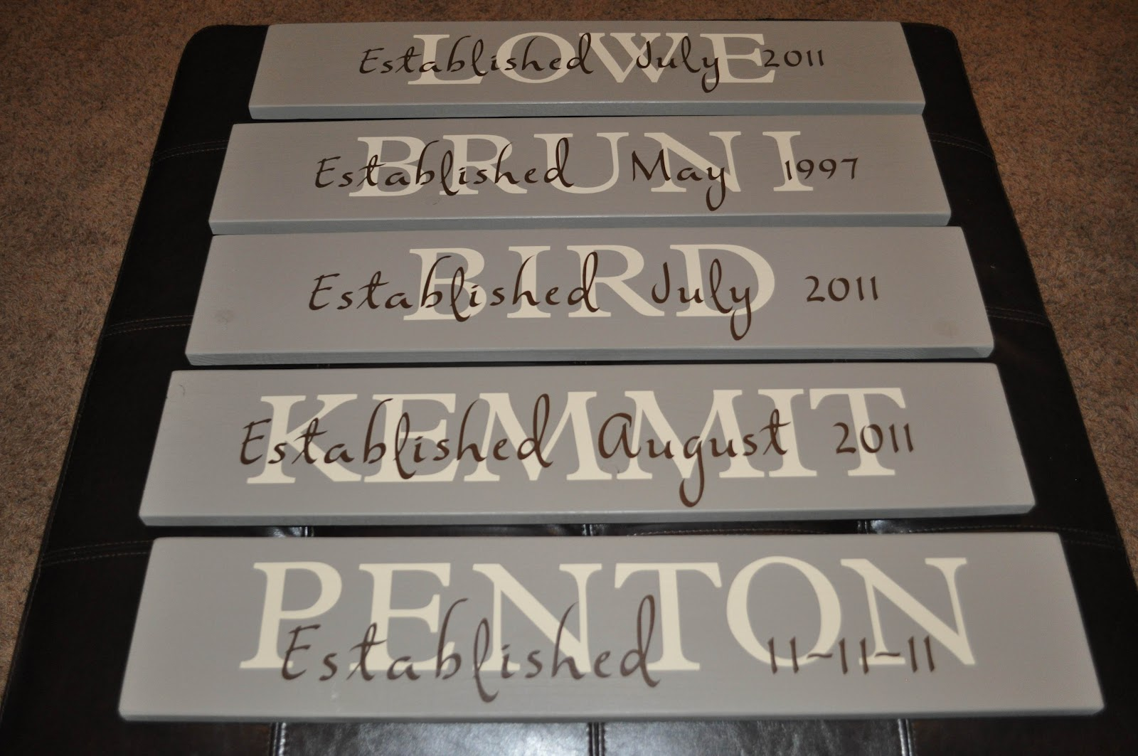 Hayjack Designs Family Quot Established Quot Name Signs