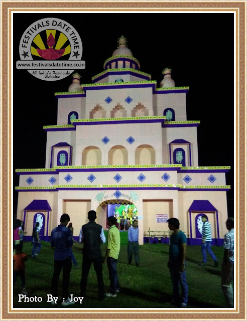 2016 Mathions, Dhanbad Durga Pandal Design Photo in Jharkhand
