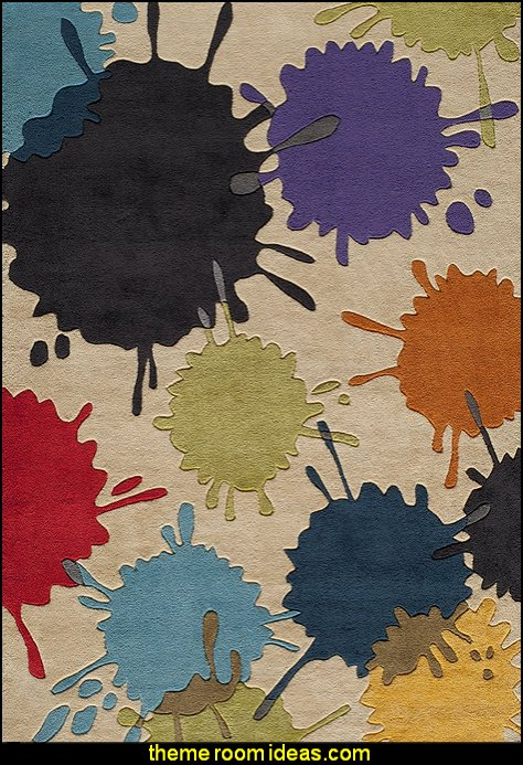 Momeni Lil Mo Hipster paint splatter area rug