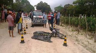 Acidente deixa jovem morto na zona rural de Baraúna nesta segunda (15)