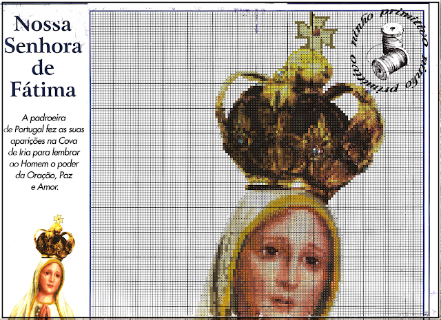 patrones punto de cruz vírgen Fátima