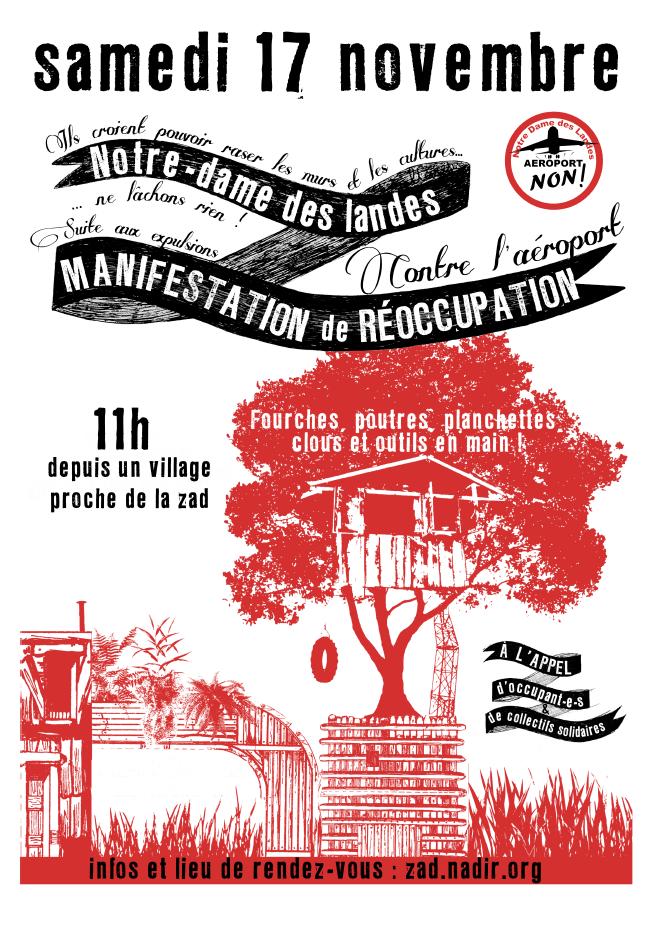la cause du peuple le journal du frap nddl manifestation de r occupation le 17 novembre 2012. Black Bedroom Furniture Sets. Home Design Ideas