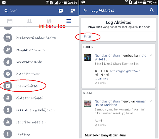 Menghapus Facbook 1