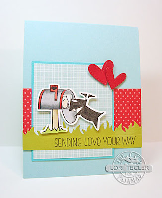 Sending Love Your Way card-designed by Lori Tecler/Inking Aloud-stamps and dies from The Cat's Pajamas
