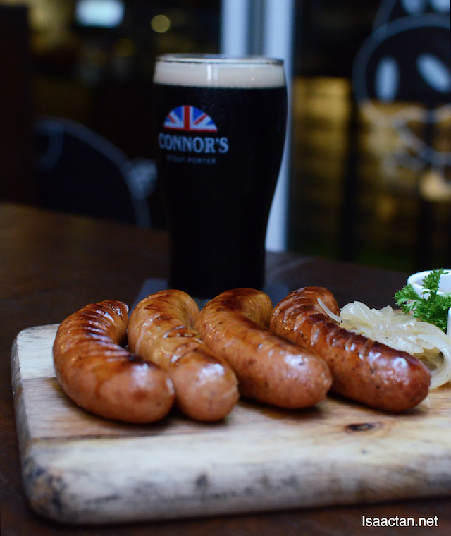 Sausage Platter - RM45++ with 1 full pint of CONNOR'S Stout Porter